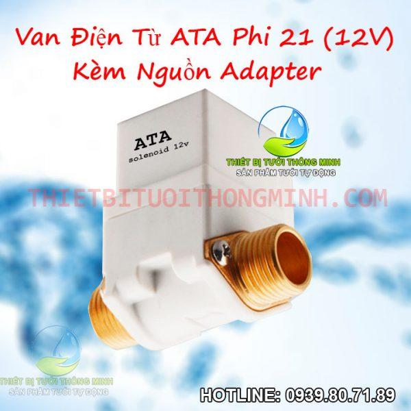 Van điện từ phi 21 dùng điện 12V ATA