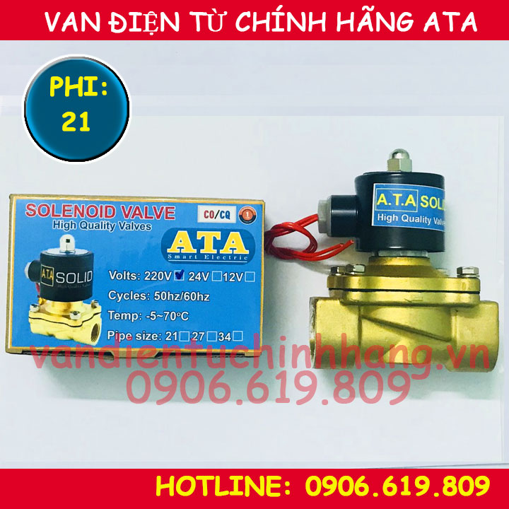 Van điện từ phi 21 ATA