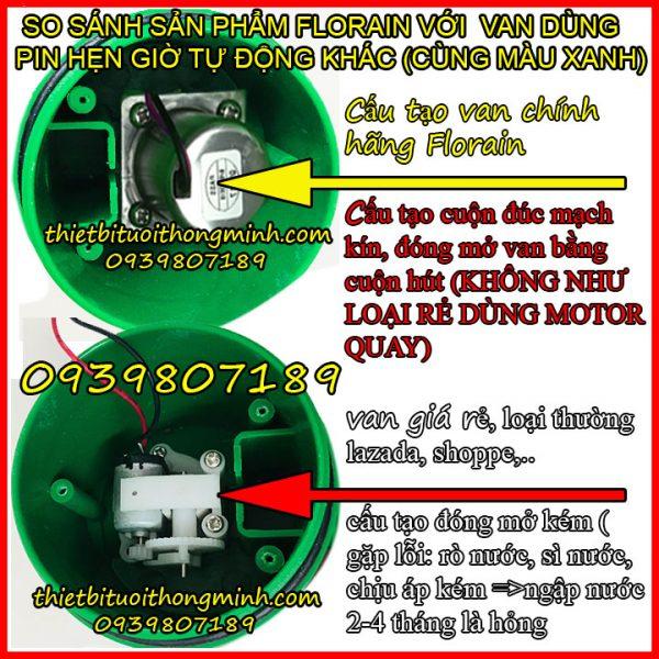 Đồng hồ hẹn giờ tưới cây dùng pin tự động Florain FL-01